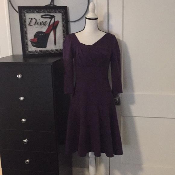 Adrianna Papell Dresses & Skirts - Dark Purple Fit & Flare Dress Sz 6